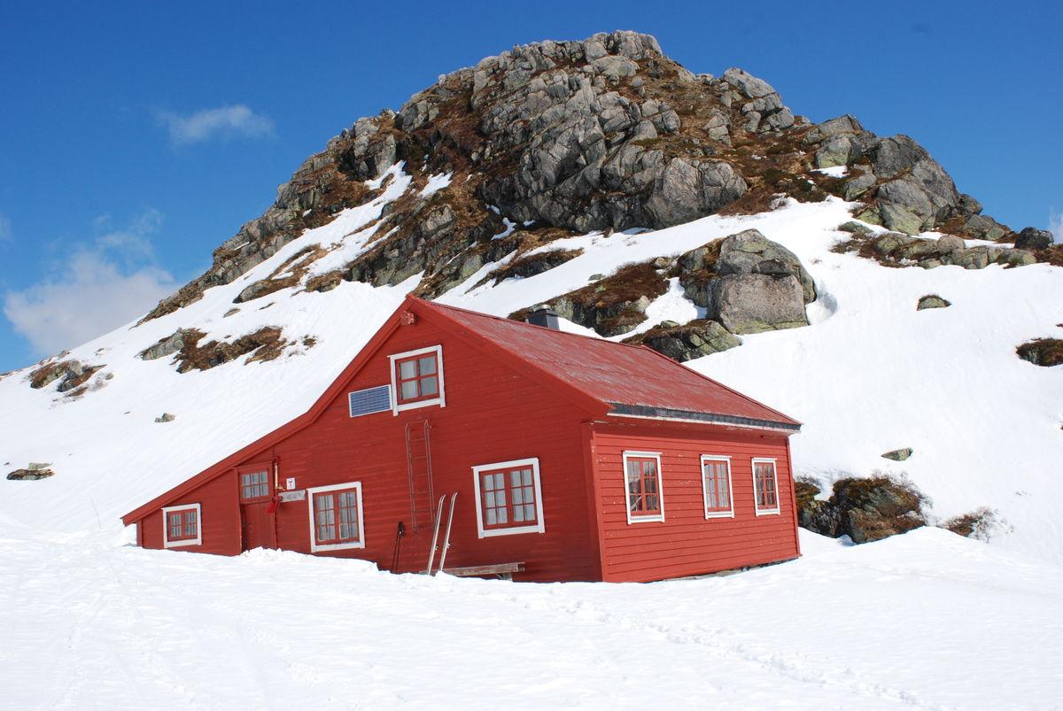 Fine sklforhold ved Høgabu til utpå våren, her i mai.
