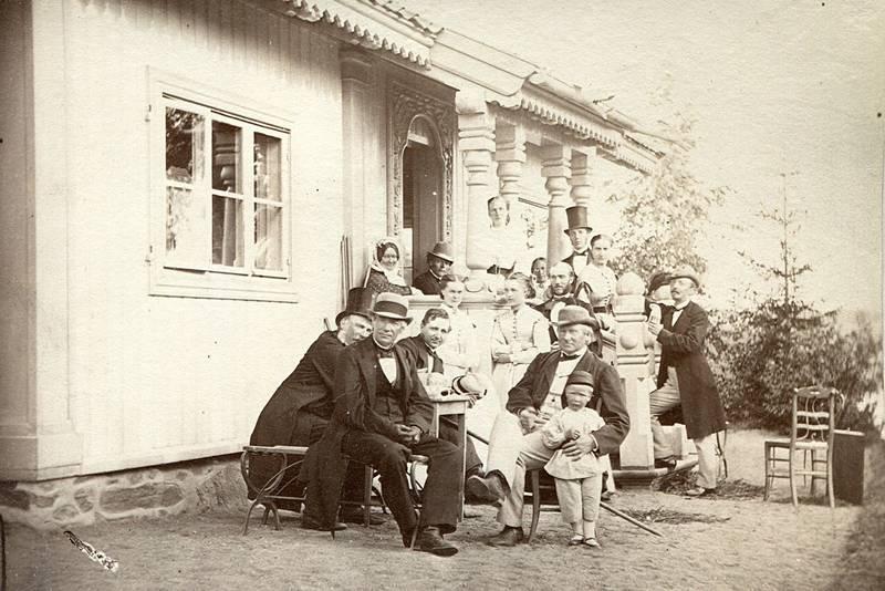 Historisk bilde fra Sarabråten.