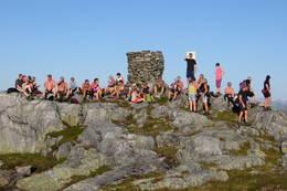 Turfølgje på Kjelstadnakken -  Foto: Jan Roar Sekkelsten