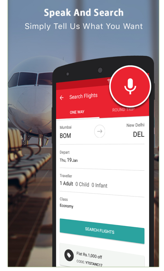 booking voice search