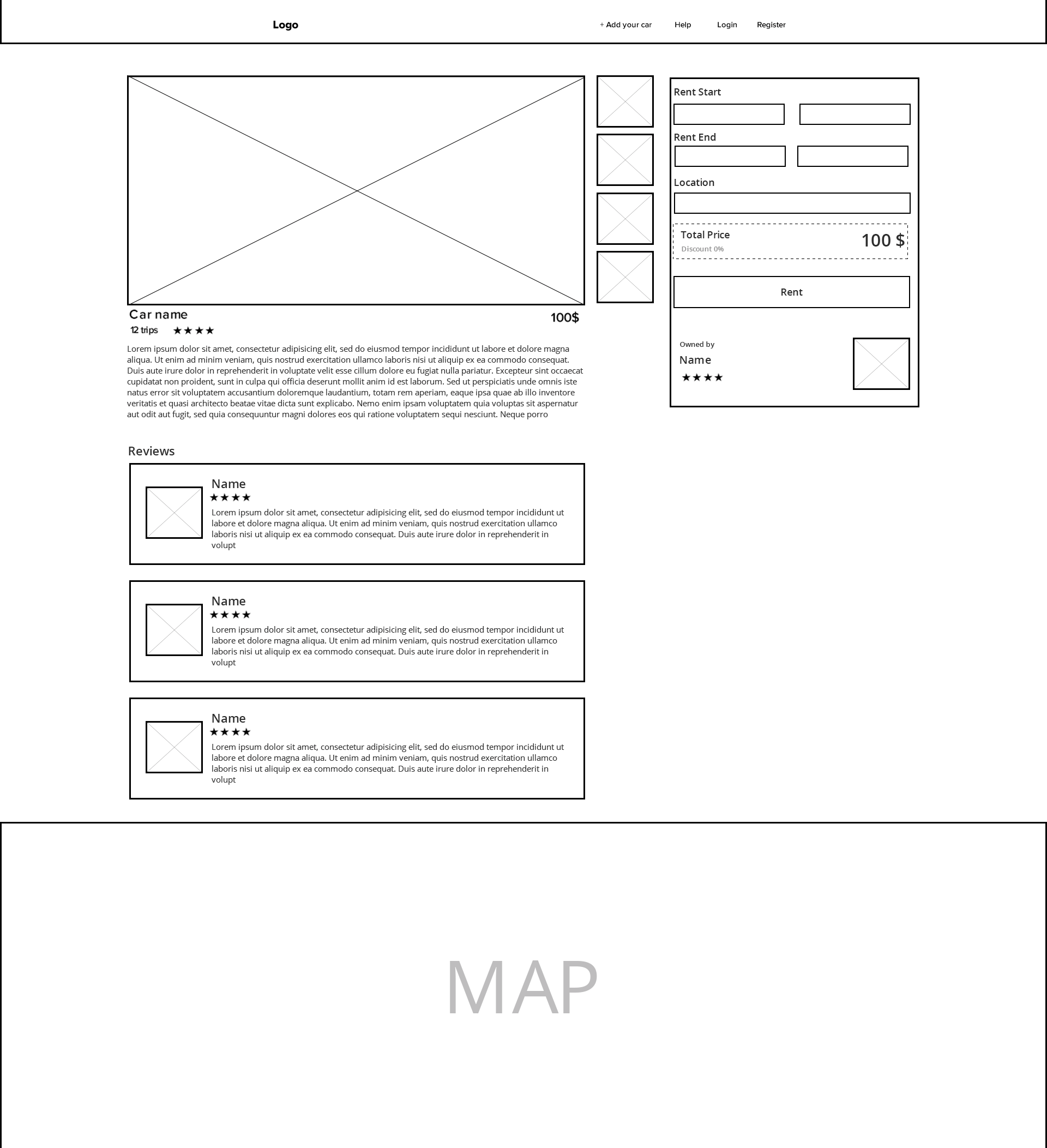 wireframing for marketplace