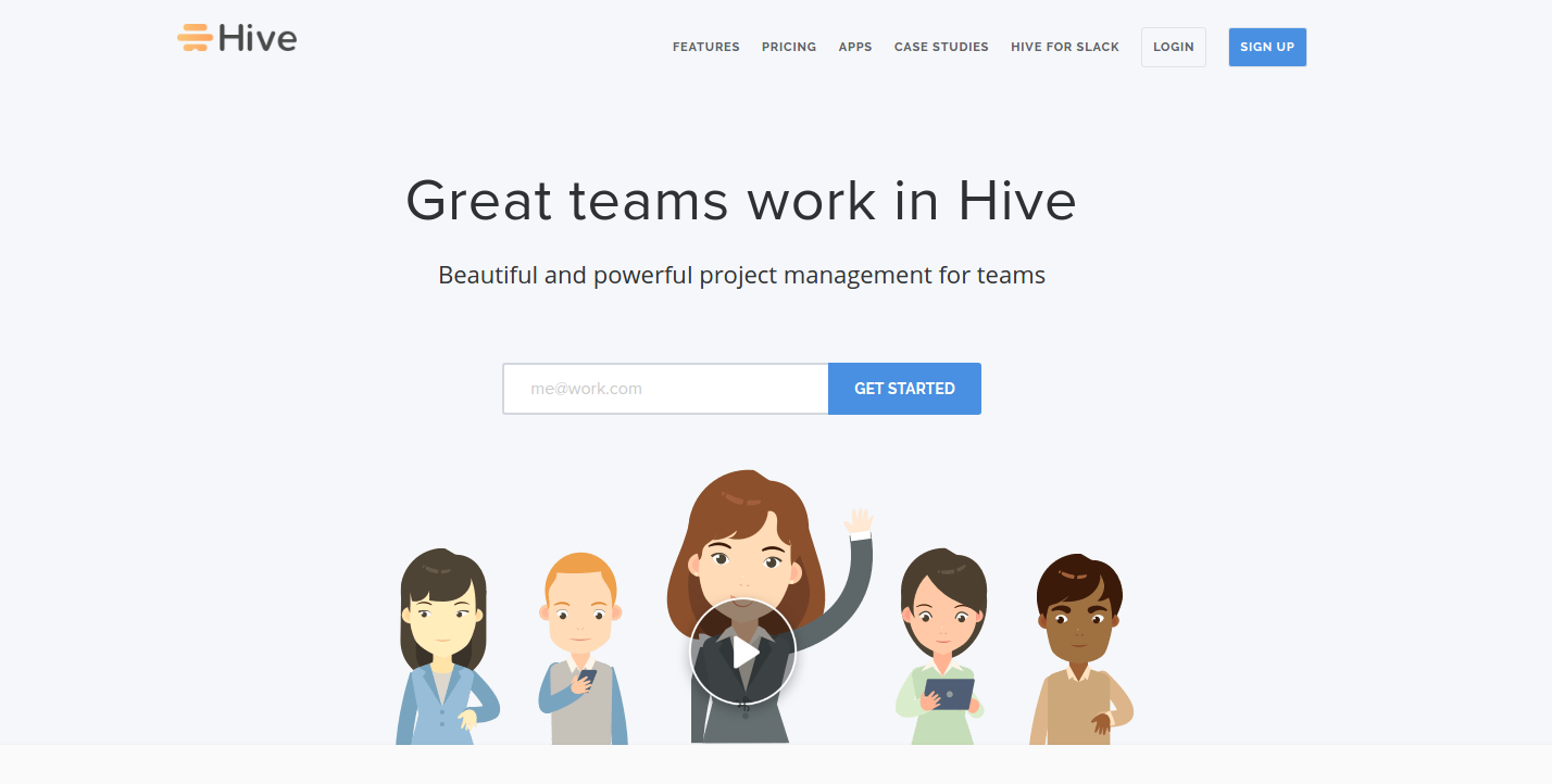 Hive welcome screen