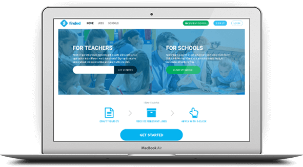 Finded education recruitment platform screen