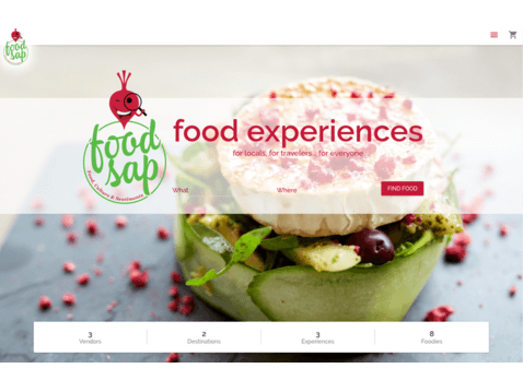 screen of FoodSap project