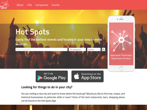 screen of Hot-Spots project