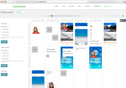 Leanlines project grid