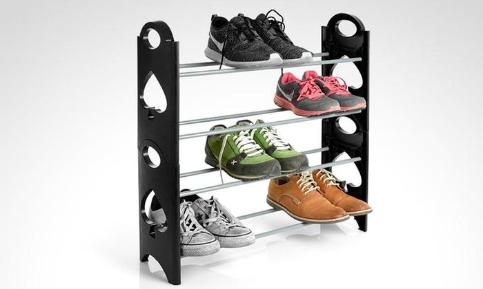 Rack organizador de zapatos 12 pares apilable - Organizador de zapatos ...