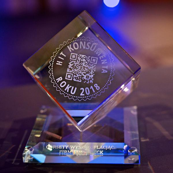 Nagroda dla firmy Just Beck - HIT KONSUMENTA 2018