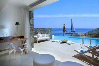 Club Studio Suite Private Pool Sea Front View