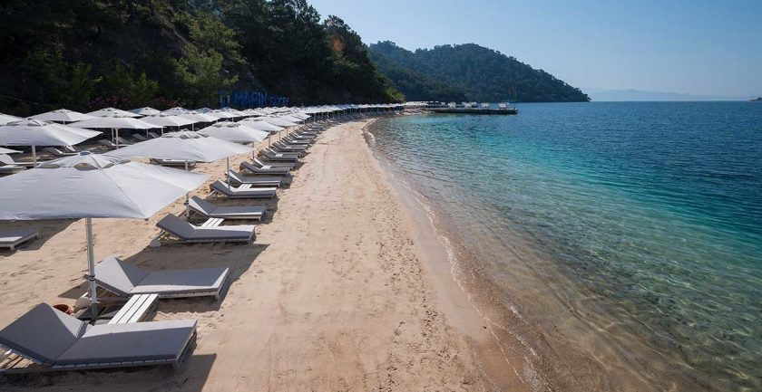 D-Resort Gocek Beach from pier