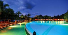Dinarobin Hotel Mauritius Pool at Night