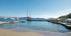 elounda peninsula boat seaview