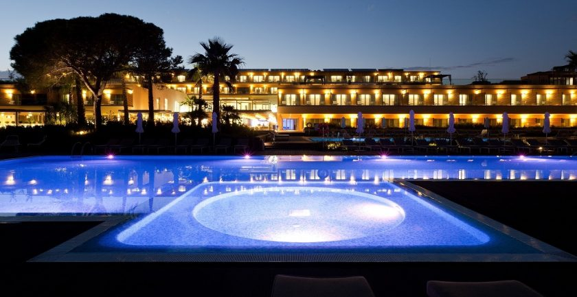 The Epic Sana Resort, Algarve, Pool at Night
