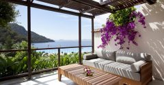 hillside beach patio