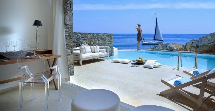 St Nicolas Bay Club Studio Suite Private Pool Sea Front