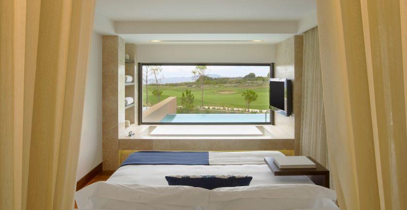 The Romanos Grand Infinity Suite Bedroom