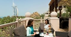 Madinat Jumeirah Al Qasr Al Fayrooz Lounge Terrace Afternoon Tea