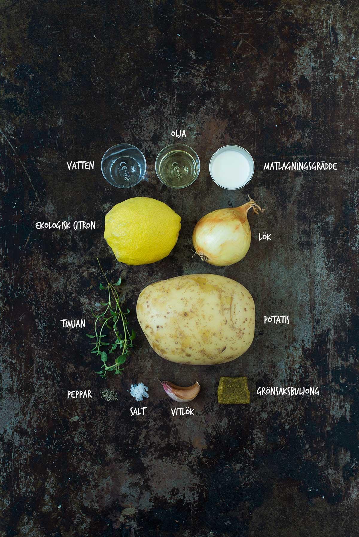 Recept: Potatissoppa med citron och timjan | Frk. Kräsen