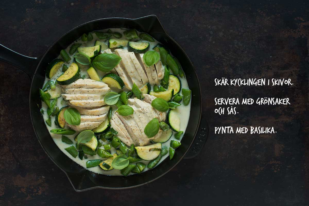 Recept: Kyckling i grön curry | Frk. Kräsen