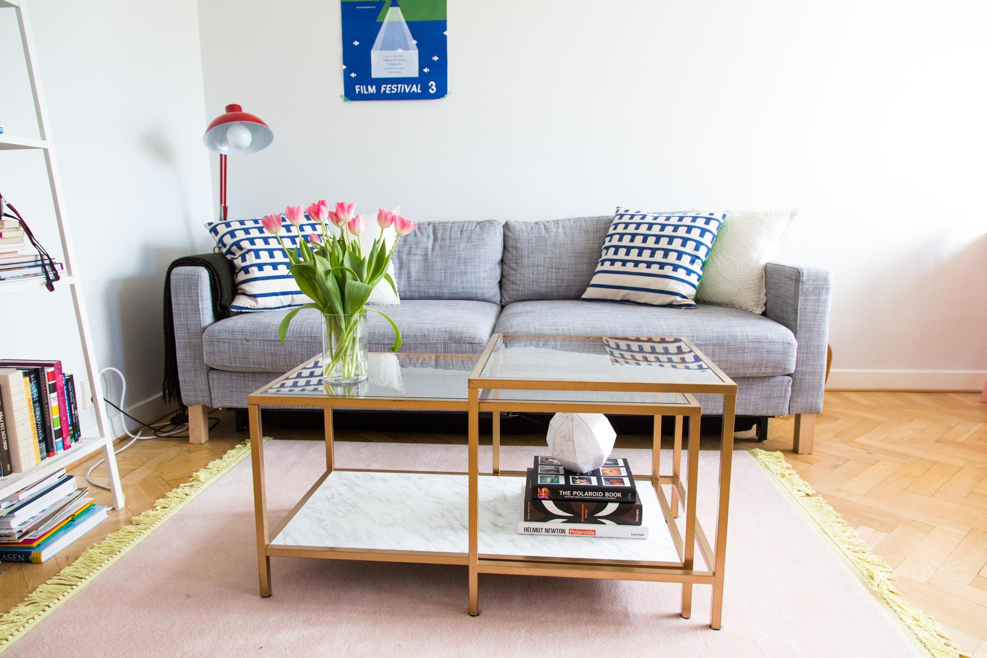 DIY u2013 Soffbord i guld och marmor, IKEA hack Dnilva