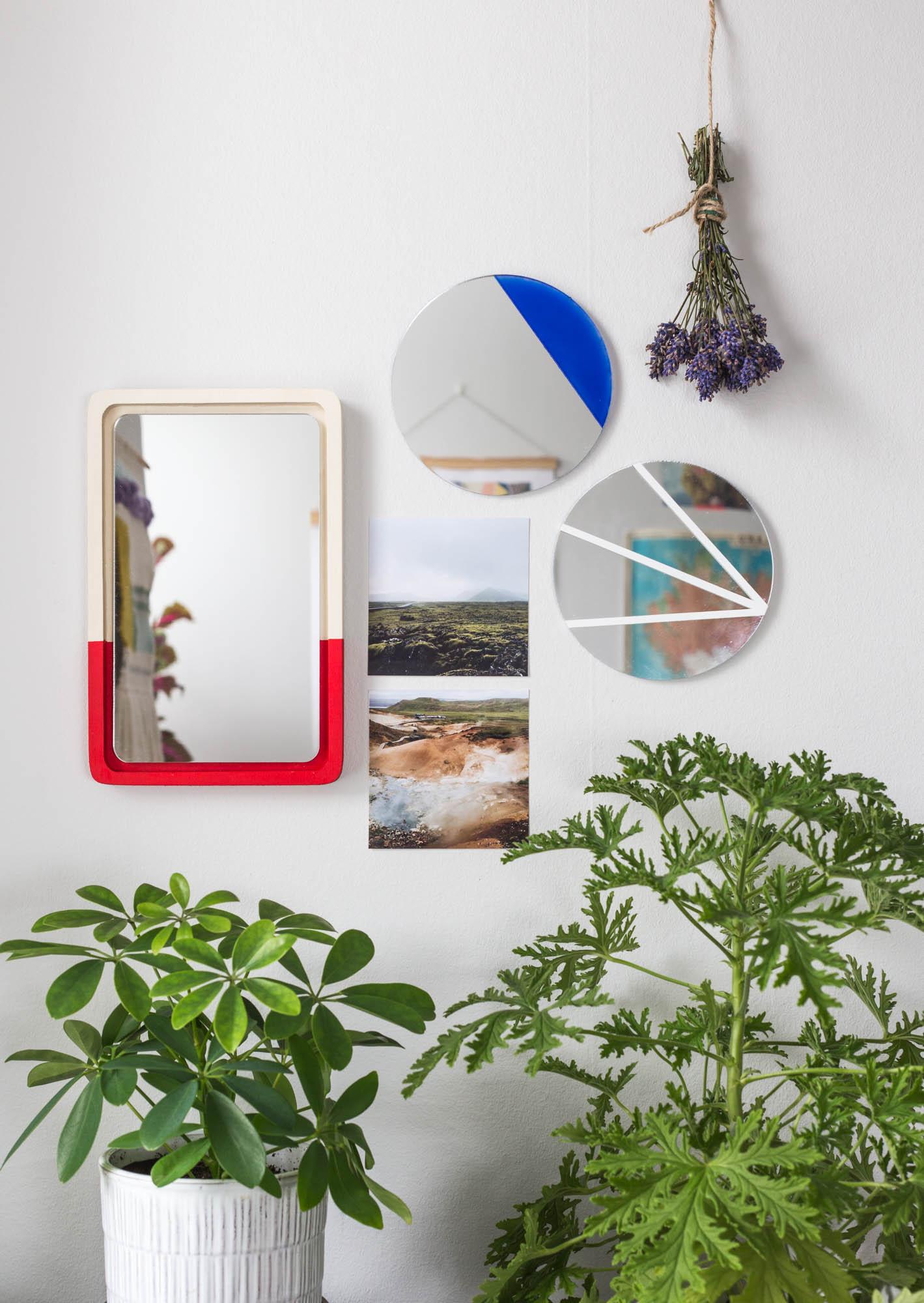 DIY väggspegel x3 | Dnilva