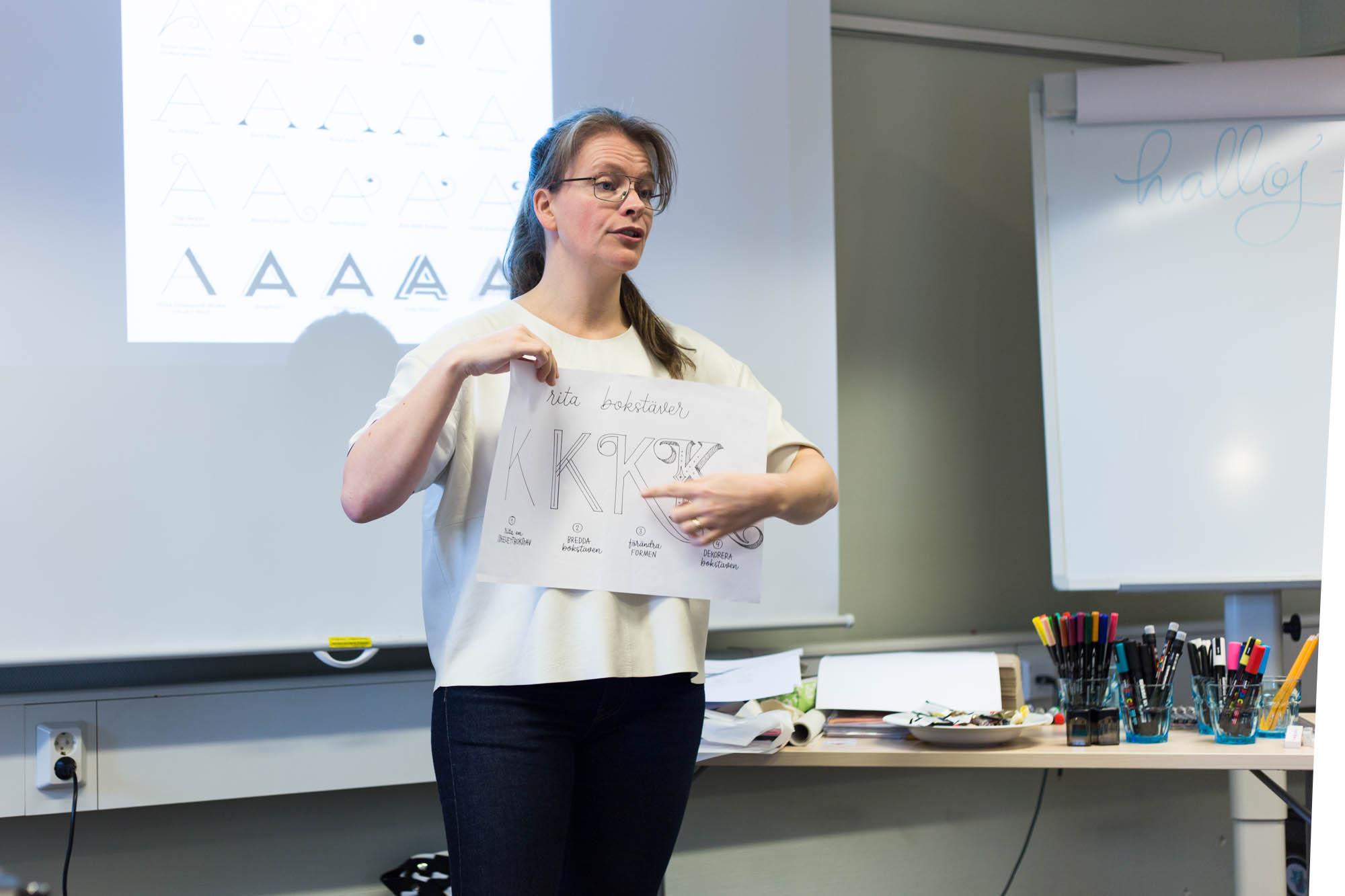 Lettering workshop Make & Create + Fia Lotta Jansson