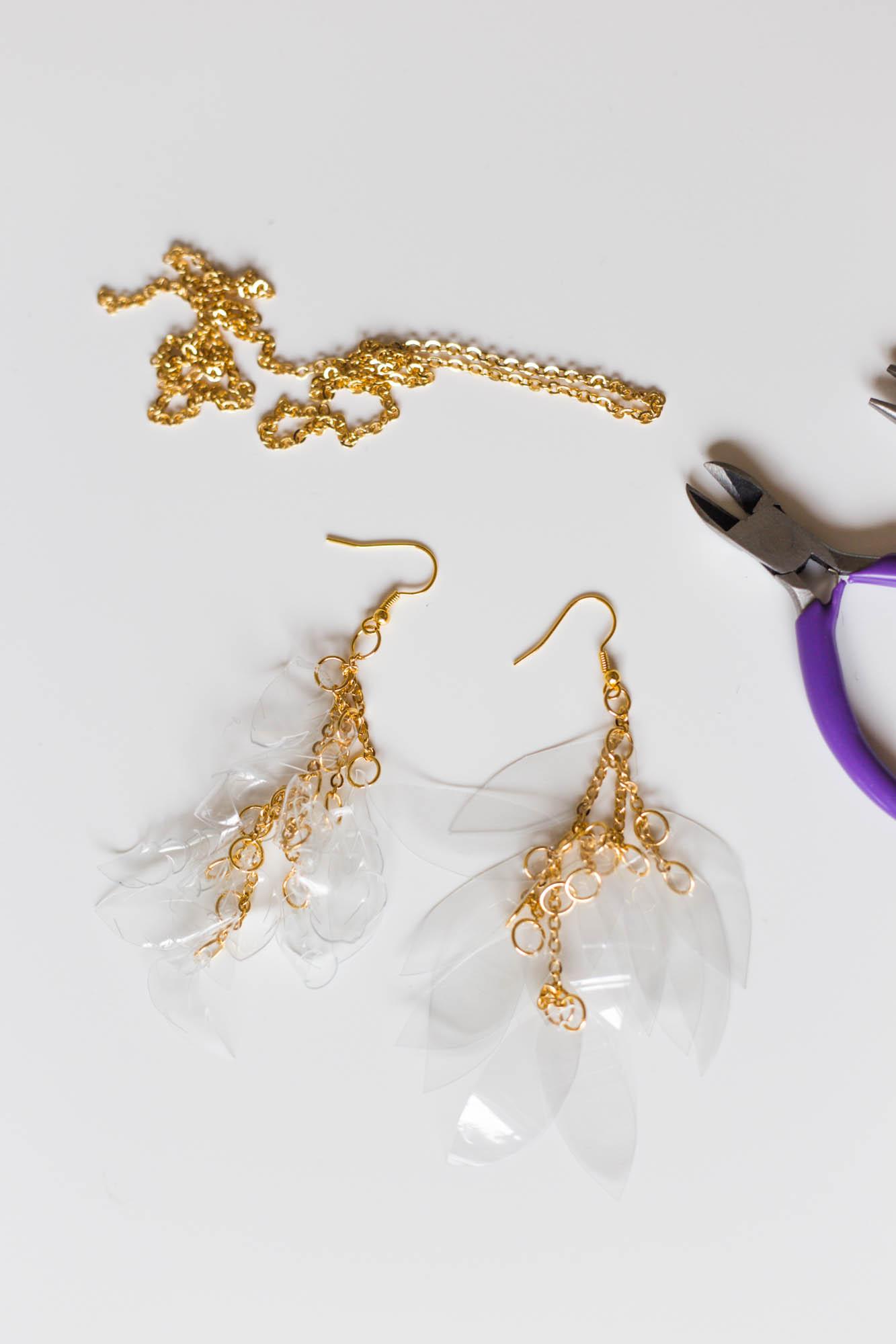 DIY PET Bottle earrings | Dnilva