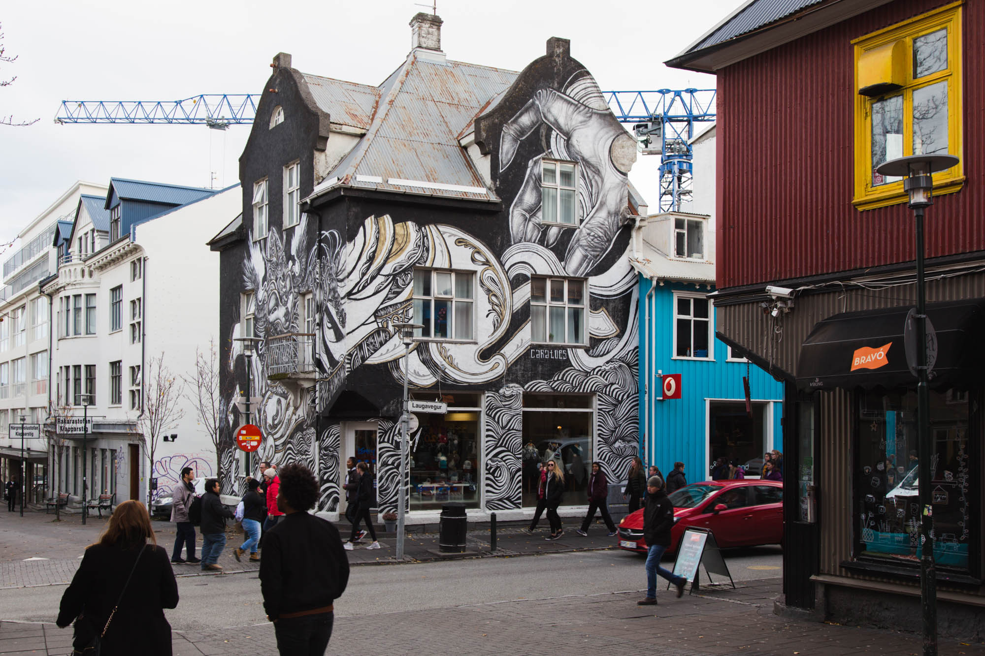 House at Laugavegur Reykjavík