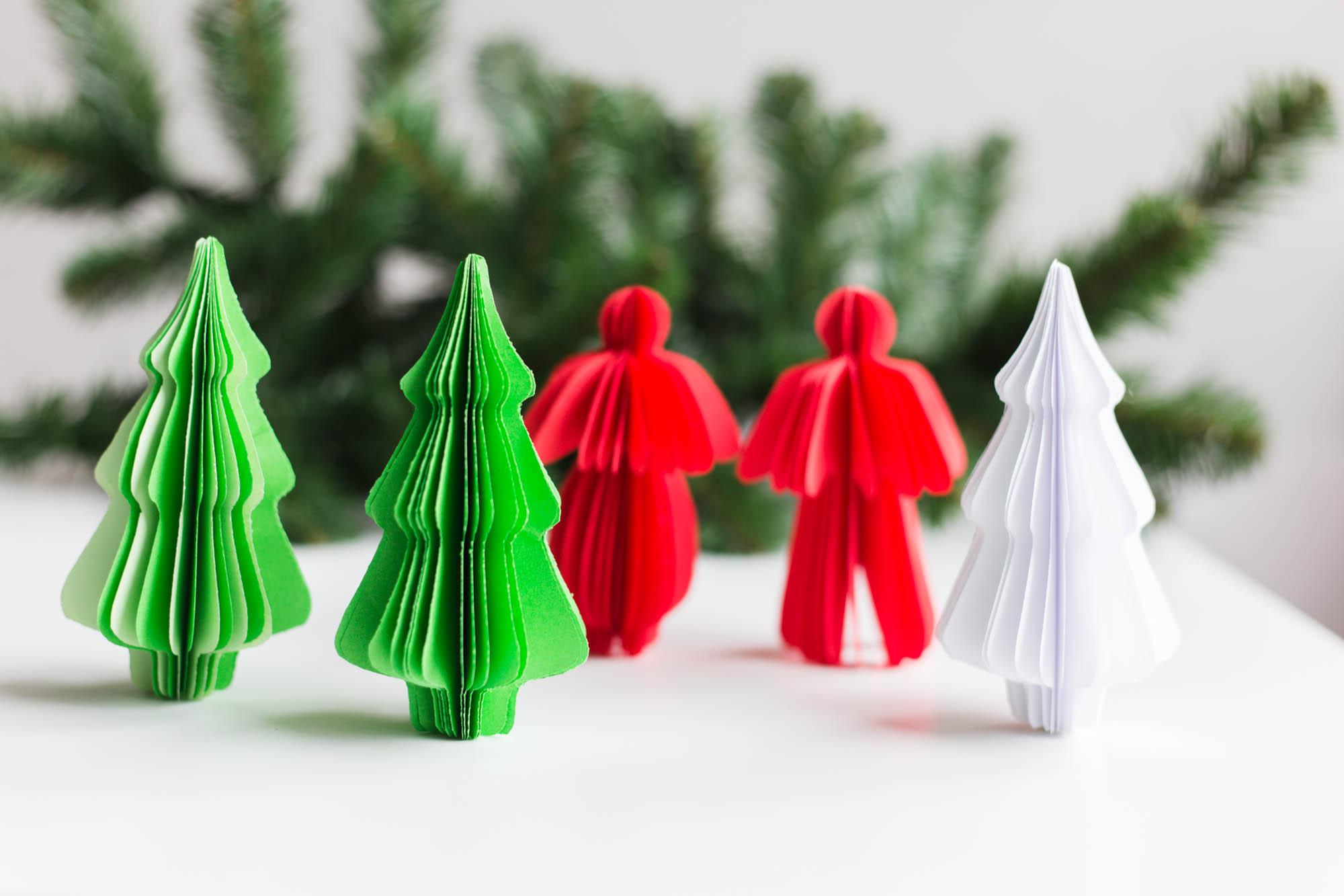 Pappersdekoration till julgranen