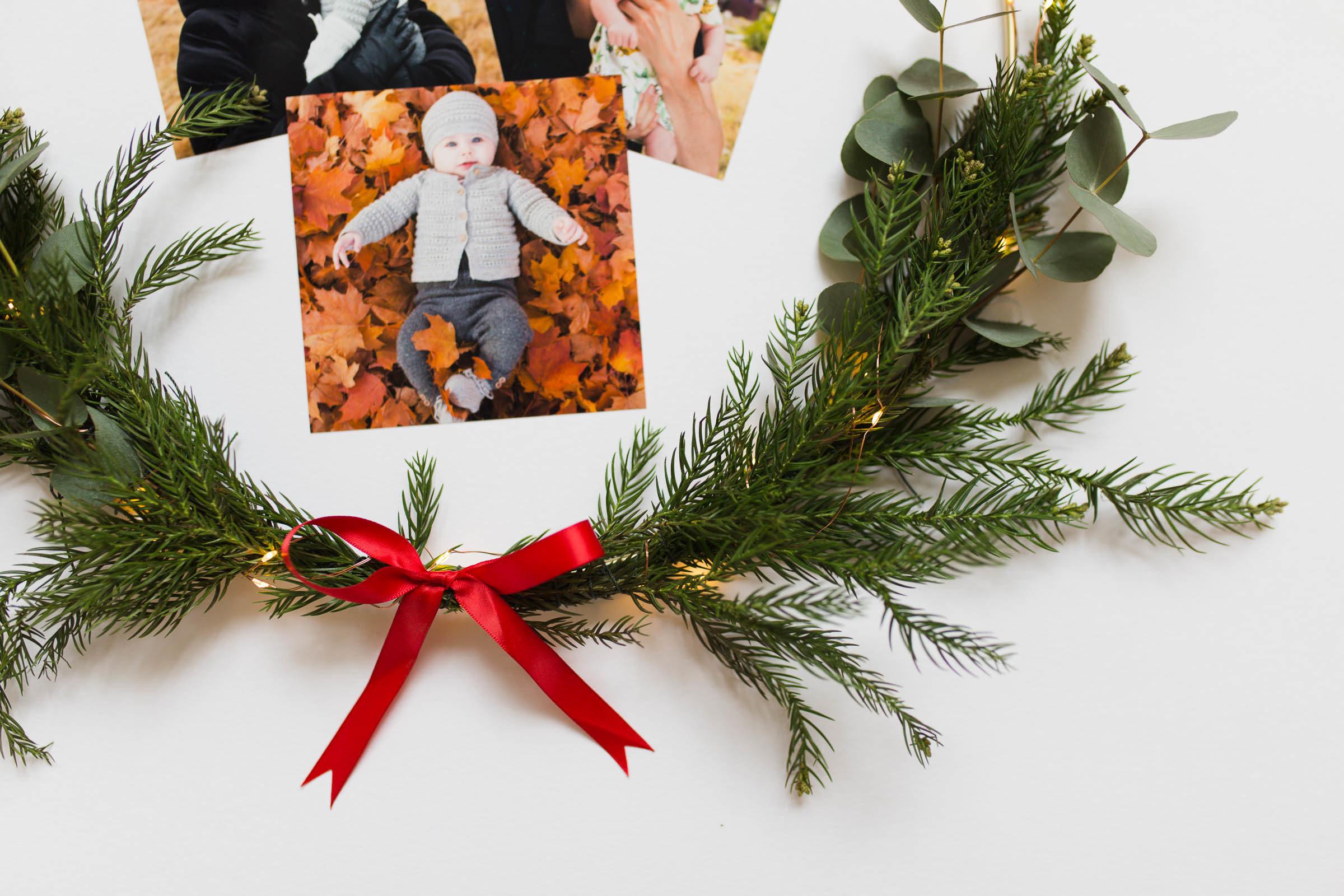Julkrans med bilder