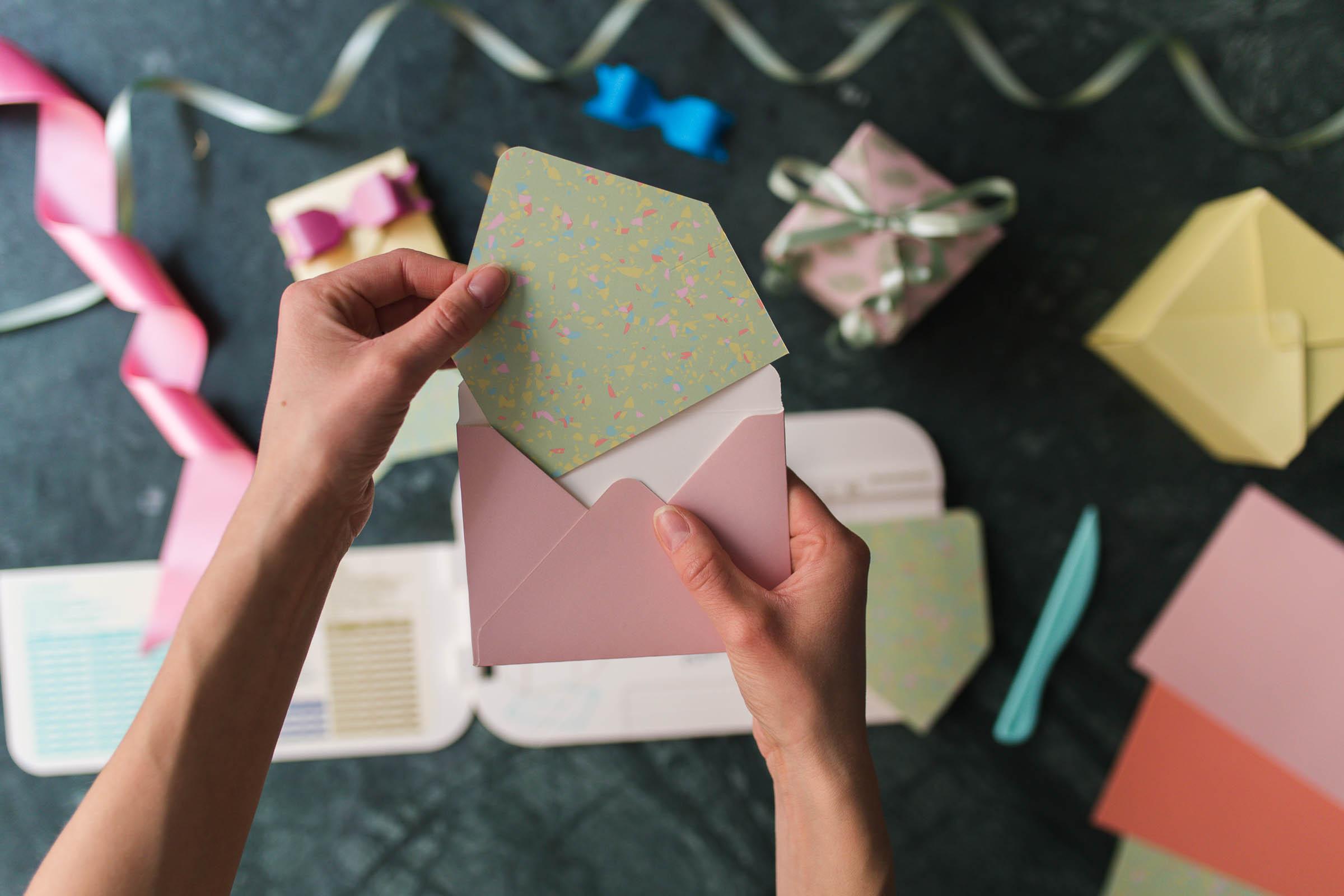 Kalaspyssel - Gör ett kuvert