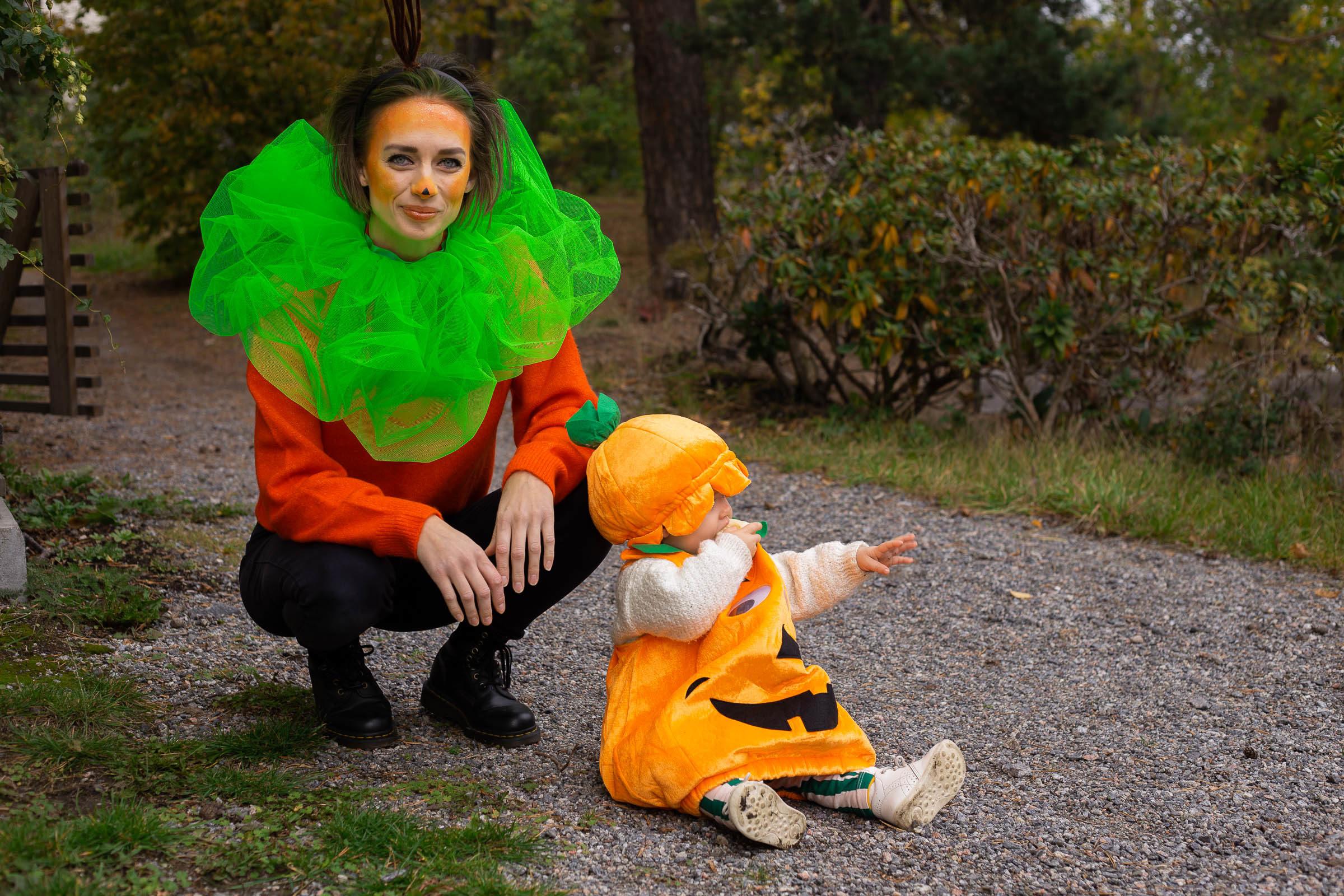 Klä ut dig till en pumpa på Halloween