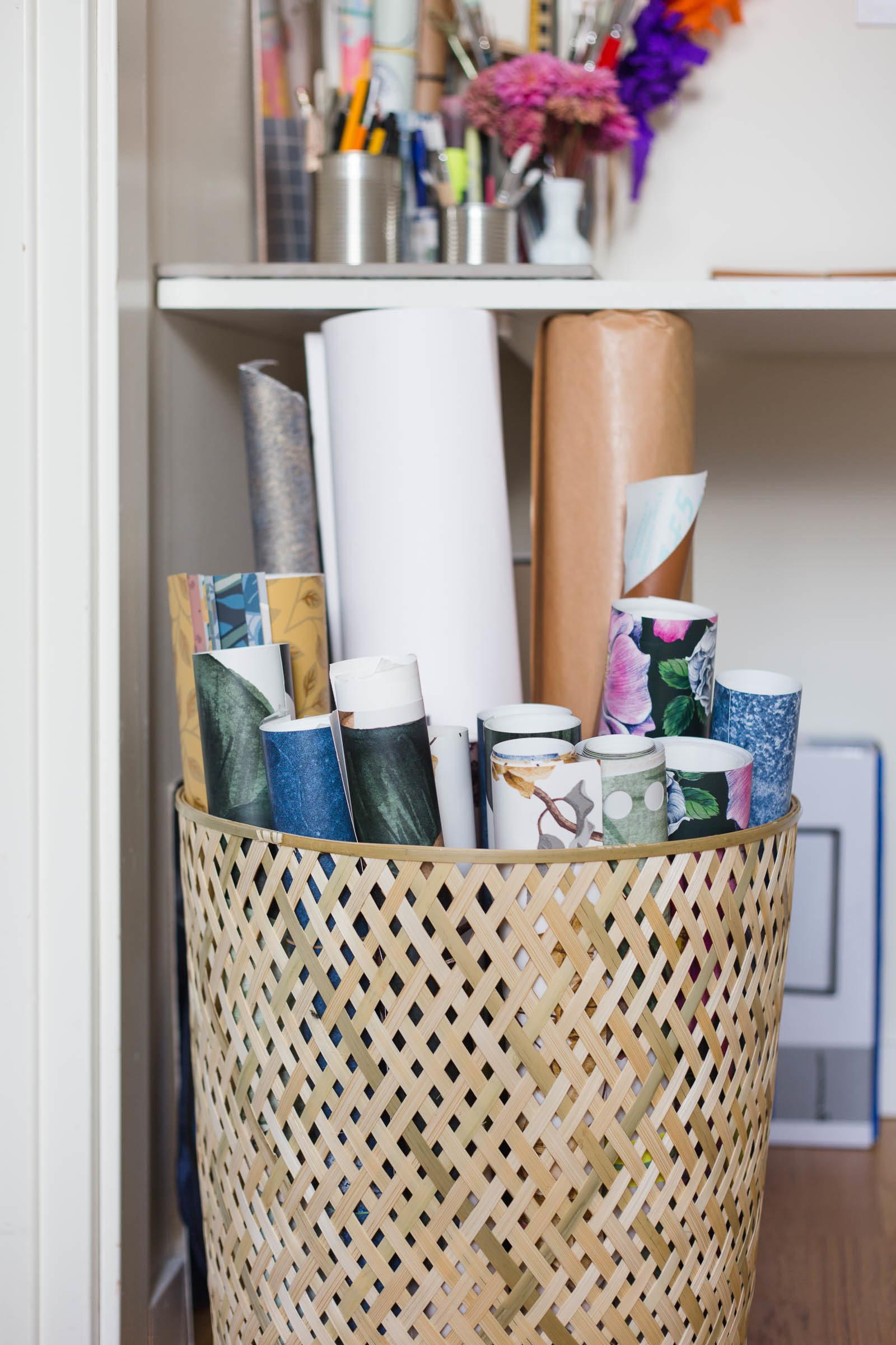 Arbetshörna, pappers och tapetförvaring - Dnilva