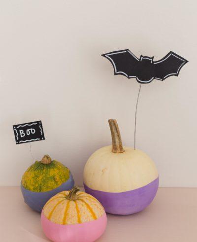 No carve halloweenpumpa - Pumpa med ballong