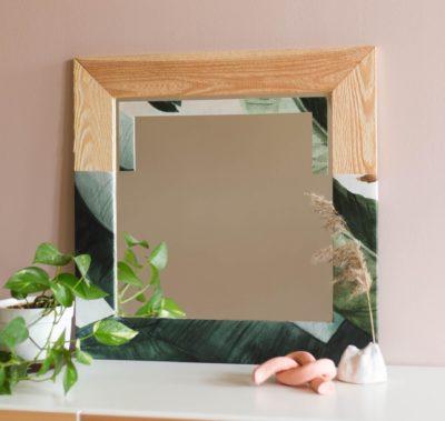 DIY tapetsera en spegel - Photowall