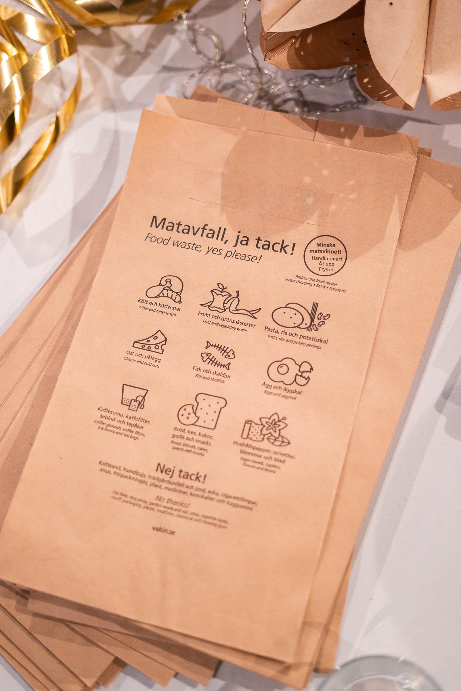 Adventsstjarna av avfallspåse Go'kväll - Anna Maria Larsson