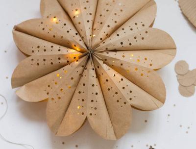 Julstjärna av papperspåse - Dnilva