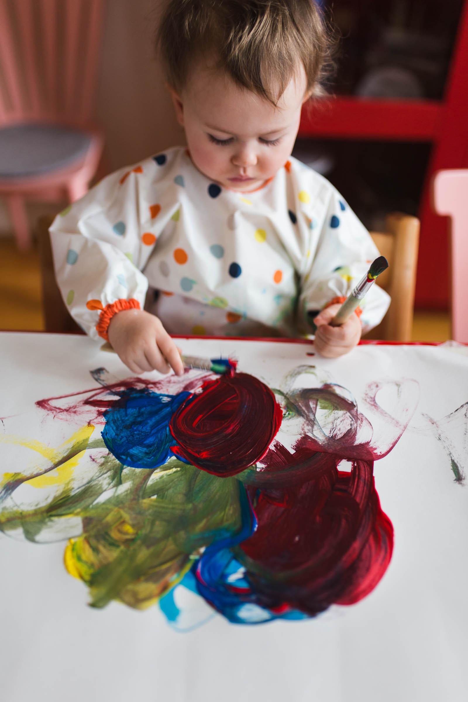 Perfekt vabbsyssla, måla med pensel