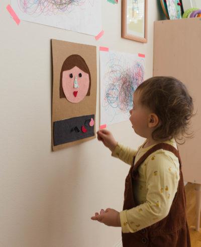 Gör en egen flanellograf - Humörstavla för små barn