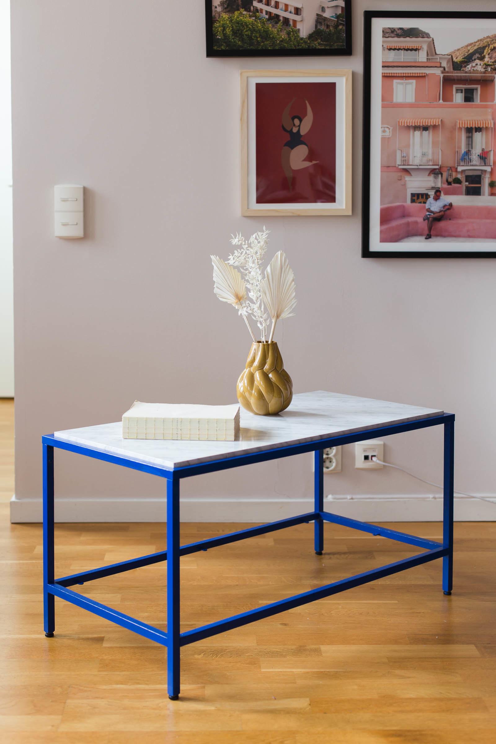 IKEA hack VITTSJÖ - Blått och marmor