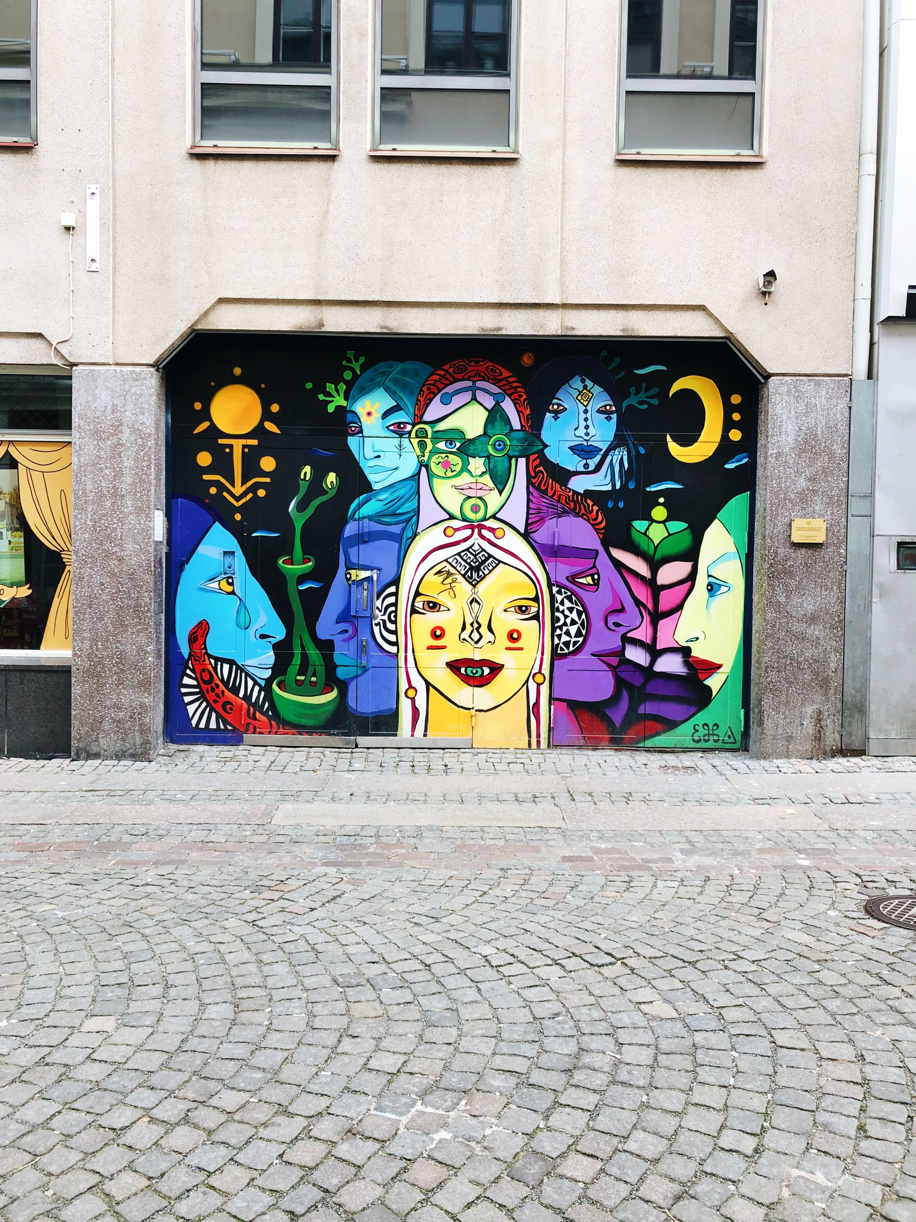 Graffiti på Vallgatan