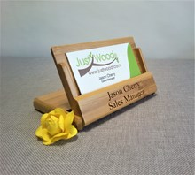 Just Wood Personalised Business Card Holder