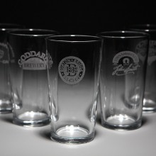 Just Wood Personalised Conical Pint and 1/2 Pint Glass