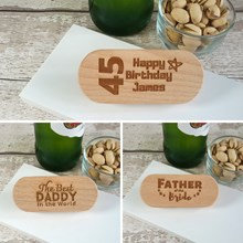 Just Wood Personalised Bottle Openers Engraved with Words of your choice