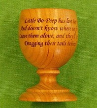 Just Wood own design wooden Egg Cups, plain or engraved