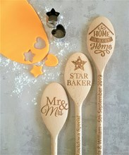 "Just Wood Personalised Wooden Spoon ""Worlds Biggest Stirrer"" Engraved with Words of your choice."