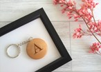Personalised Wooden Keyring - Name and Initial