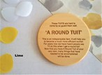 """""""A Round Tuit"""" Turned Wooden Coasters - Various Timbers"""