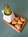 3D Wooden Hearts, Handcrafted, Loved One, Memory