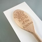 King / Queen of the Kitchen Design - Personalised Wooden Spoon